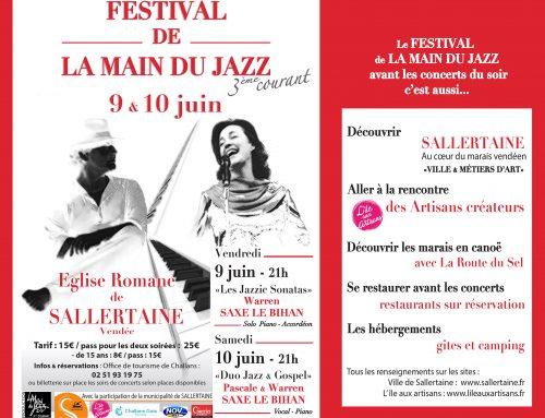 Festival de La main du Jazz les 9 et 10 juin