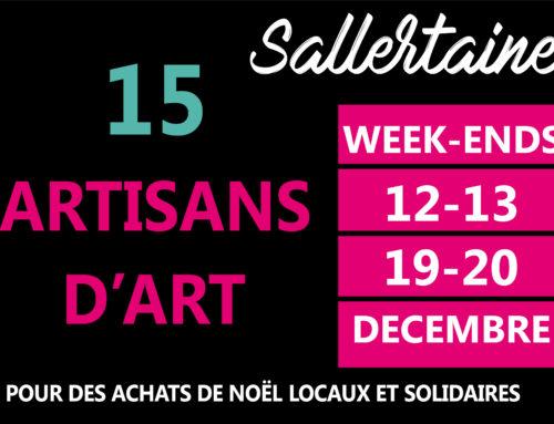 Mobilisations des artisans d'art pour les 2 week-ends avant Noël